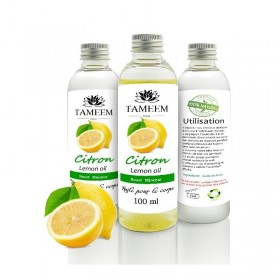 Huile de Citron (Lemon) - 100% Naturel - 100 ml - Tameem