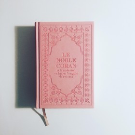 """Coran Arabe / Francais """" Rose Poudré """""""