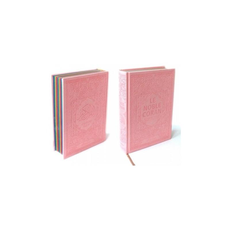 Le Saint Coran Rainbow (Arc-en-ciel) - Français/arabe avec transcription phonétique - Edition de luxe (Couverture Cuir )