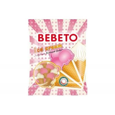 Bonbons Halal Ice Cream (Crème glacée) - Bebeto - Sachet 80gr