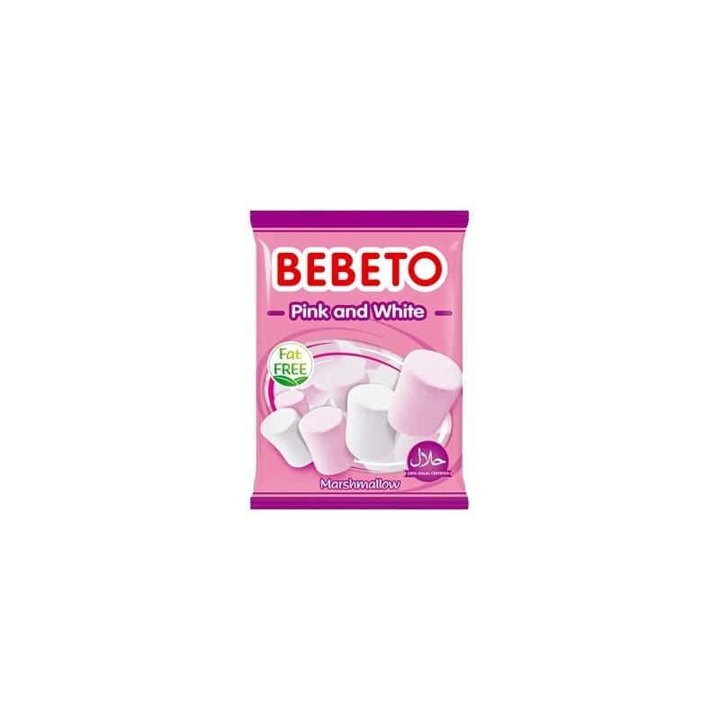 Bonbons Halal Marshmallow Pink White (Rose et Blanc) Bebeto - Sans gras (sachet de 135g)