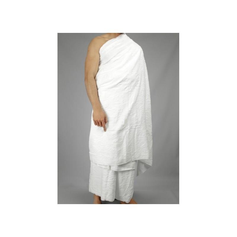 Ihrâm pour le hajj : Tenue pour le pèlerinage (Hajj) et la 'Omra (Vêtement en 2 pièces dans un sac)