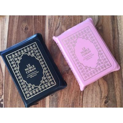 Coran avec Pochette effet cuir ( 4 couleurs au choix) Lecture Hafs - Sana -