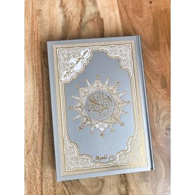 Coran Argent avec Tajwid (Hafs), Arabe, Grand Format
