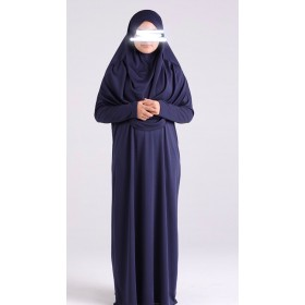 Robe de priere à enfiler hijab intégré