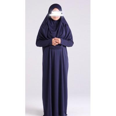 Robe de prière enfant à enfiler hijab intégré