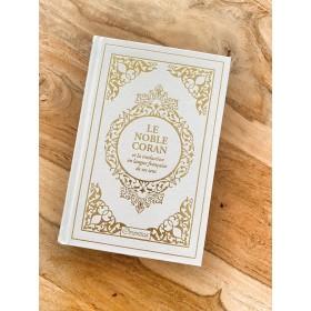 Coran Cuir Blanc Arabe Français