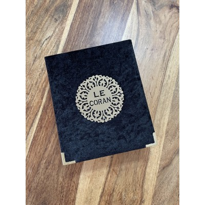 Coffret Velours Noir + Coran arabe français