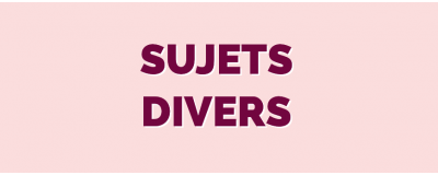 Sujet Divers